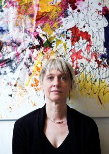 Germany, Berlin, Anja Sieber, Kuenstlerin und Verlegerin