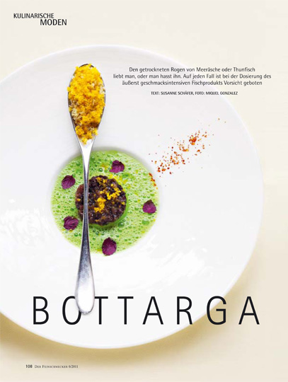 Bottarga, Restaurant Le Moissonier, Cologne, for Der Feinschmecker