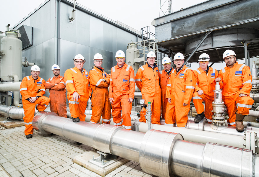 Wintershall photo shoot, The Netherlands