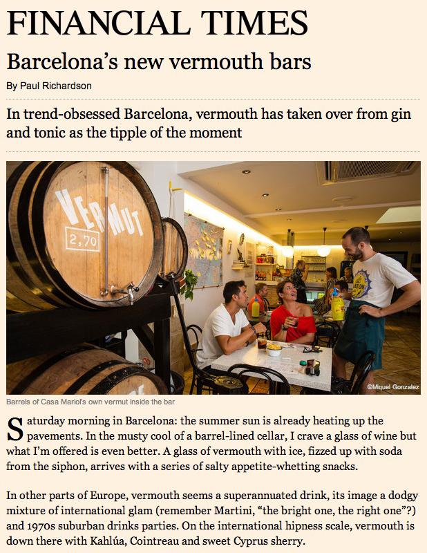 Barcelona Vermouth Bars Editorial Photographer