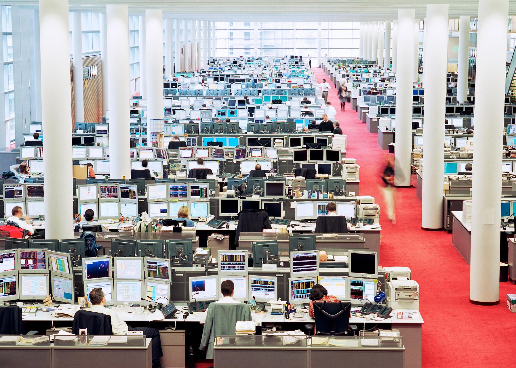 Germany, Frankfurt, Commerzbank, trading room