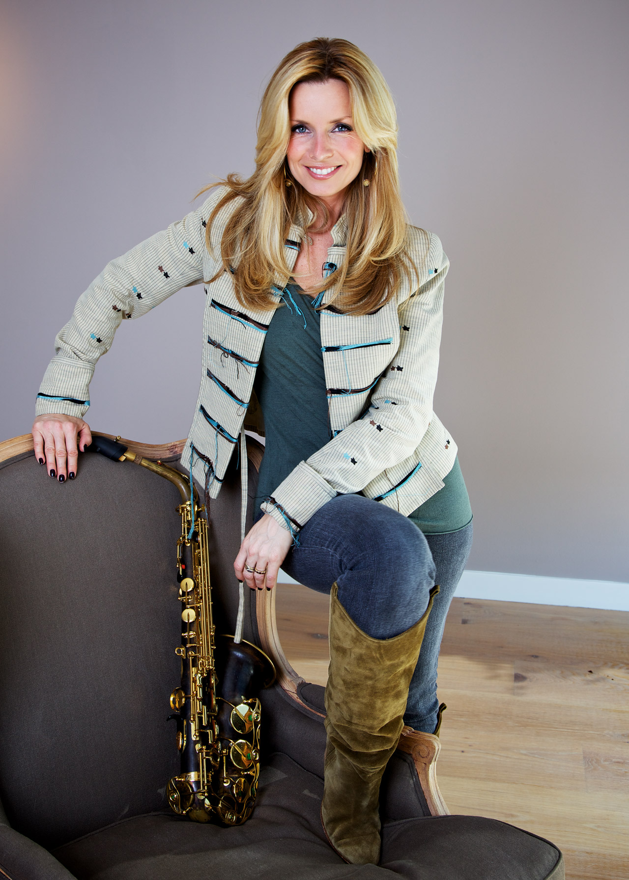 Saxophonist Candy Dulfer, Amsterdam