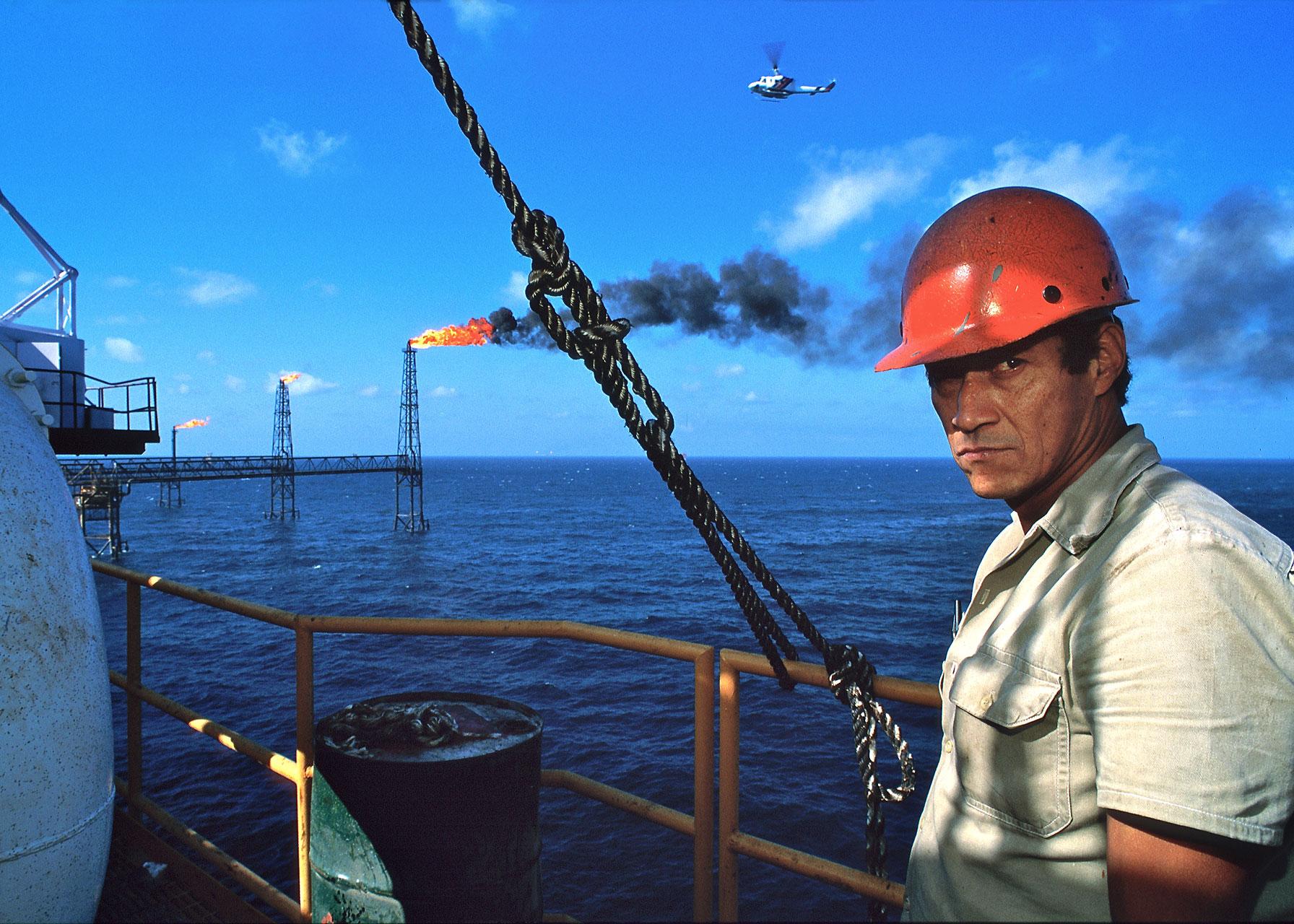 PEMEX petrol platform, Gulf of Mexico