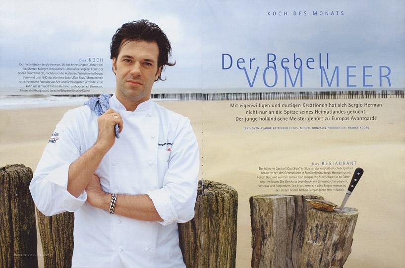 Sergio Herman for Der Feinschmecker, Styling Frauke Koops
