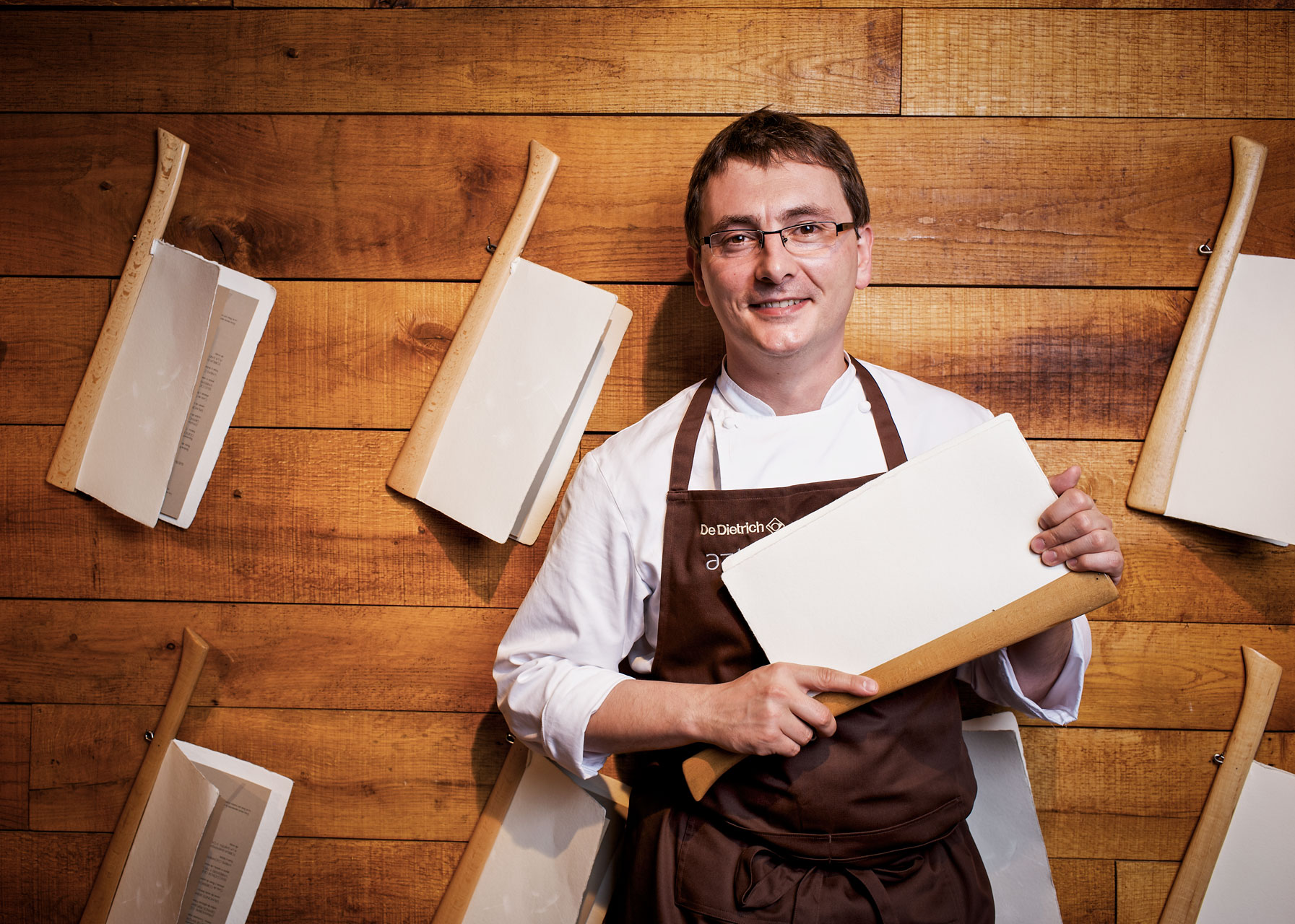 Basque chef Andoni Aduriz, Restaurant Mugaritz, for Der Feinschmecker