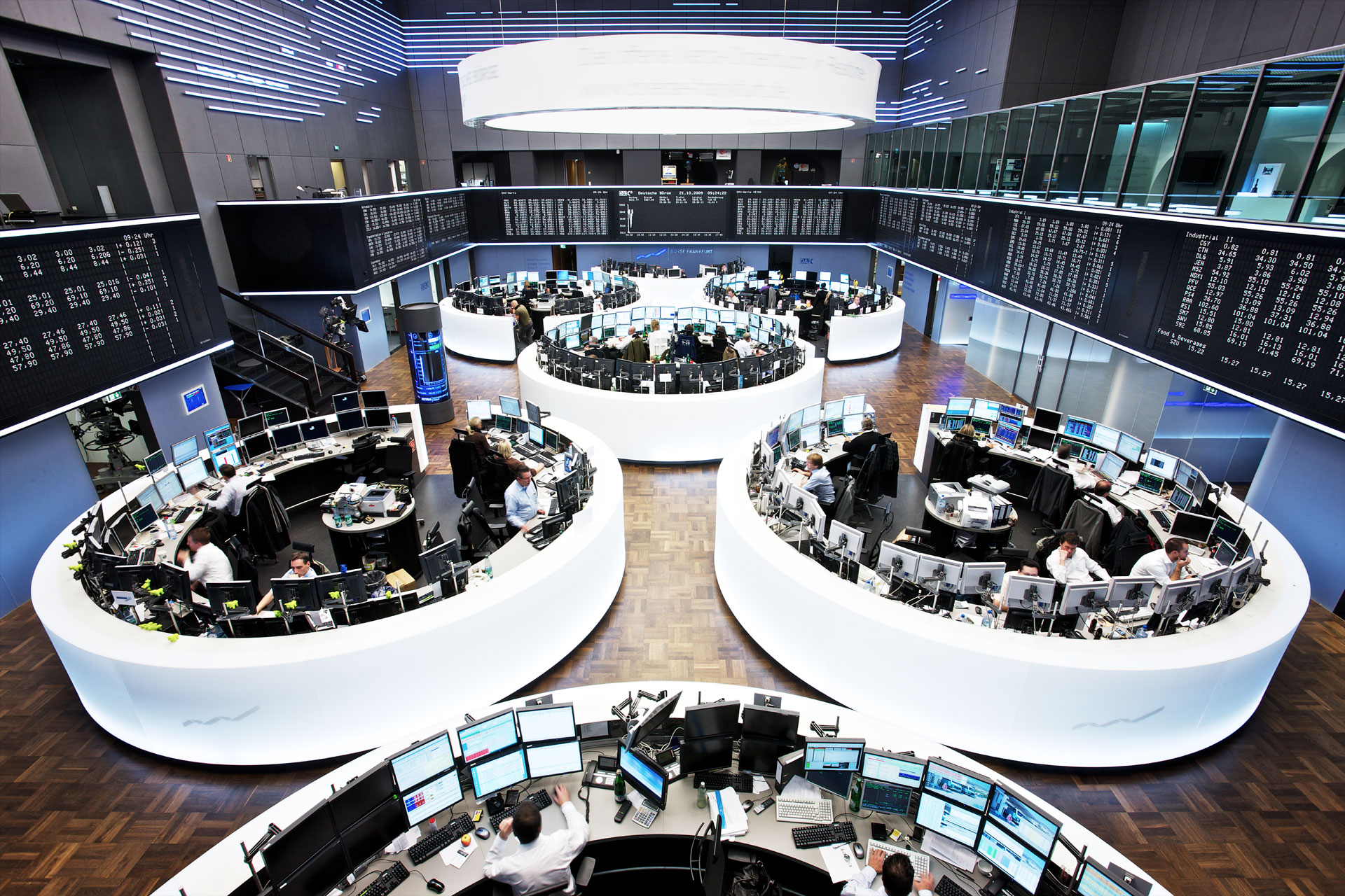 German stock exchange XETRA, Frankfurt