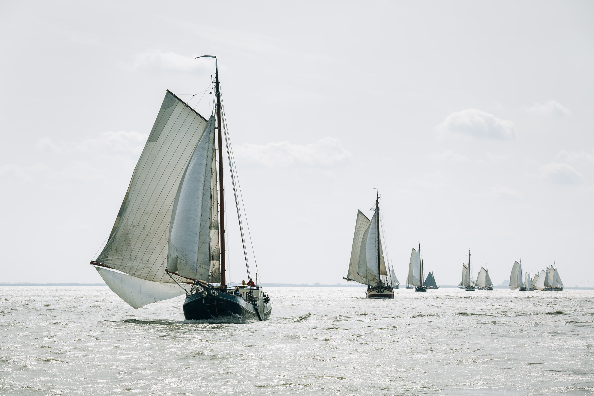 Clipper Race on the Avontuur, IJsselmeer, The Netherlands