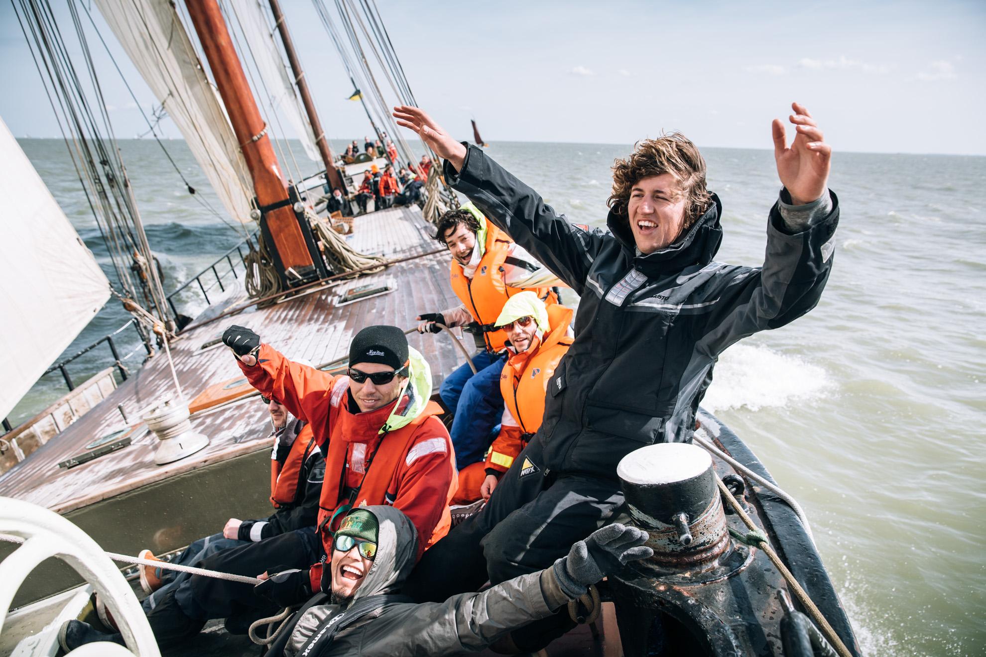 Clipper Race on the Avontuur, IJsselmeer, The Netherlands