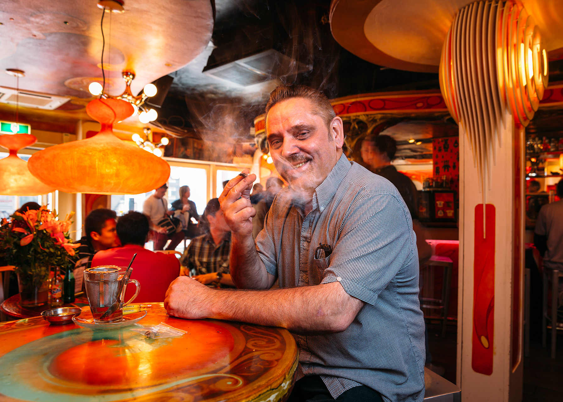 Ron Schuitema, coffee-shop owner, Amsterdam, The Netherlands