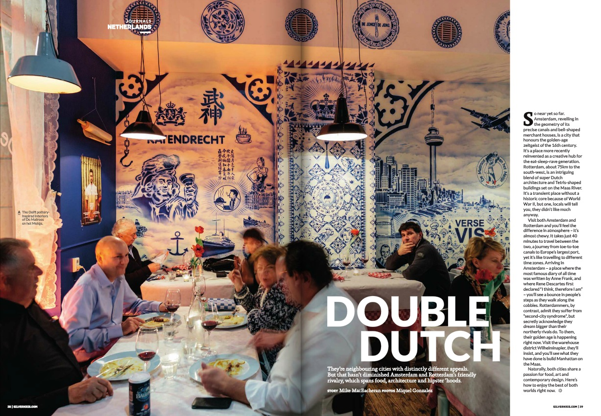 Double dutch cities Rotterdam and Amsterdam